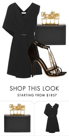 """Untitled #3810"" by beatrizvilar ❤ liked on Polyvore featuring Alexander McQueen, Balenciaga and Charlotte Olympia"