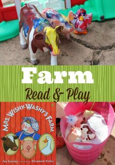 Fun farm themed activity for preschoolers based on the storybook Mrs. Wishy Washy's Farm.