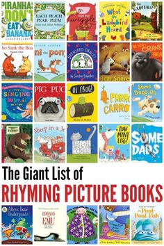 Check out this GIANT list of rhyming picture books for kids of all ages to enjoy! The ability to recognise and manipulate rhyme is an important skill for pre- and beginning readers.