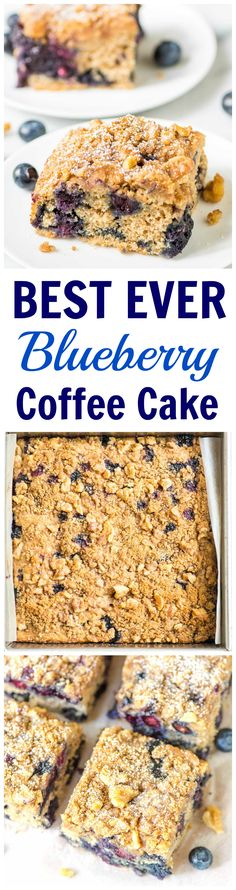 This is the BEST EVER Blueberry Coffee Cake recipe — Ultra moist and fluffy, with loads of buttery cinnamon streusel topping, and blueberries bursting in every bite. PERFECTION! Recipe from wellplated.com @wellplated
