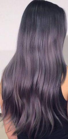 Purple Wig Black Hair With Purple Extensions Chocolate Purple Hair – porjack Lavender Grey Hair, Silver Purple Hair, Purple Wig, Brown Ombre Hair, Hair Color Purple, Brown Blonde Hair, Purple Gray, Blue Grey Hair, Violet Ombre