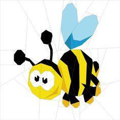 """Forest Chums - Bee 12"""" (31cm) quiltartdesigns.blogspot.com"""