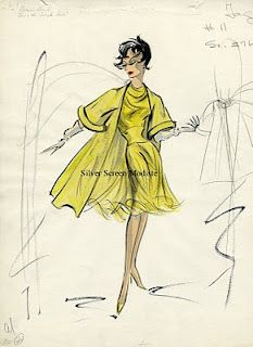 The costume sketch above was for a design for Natalie Wood in Sex and the Single Girl (1964).