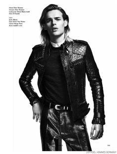 Ton Heukels Dons Fall Leather for LOfficiel Hommes Germany image Ton Heukels LOfficiel Hommes Germany 004 800x1048