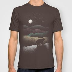 BUY: http://society6.com/product/wandering-bear_t-shirt?curator=4thecrime