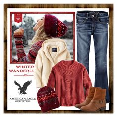 """Winter Wanderlust with American Eagle Outfitters Contest Entry"" by earthlyangel ❤ liked on Polyvore featuring American Eagle Outfitters, contest and aeostyle"