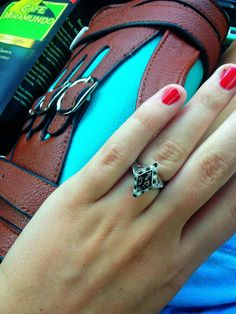 Turned my Kappa Delta pin into a ring! Such a great idea.