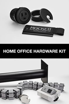 Shop Work From Home Office Setups by Mockett for cable management and power grommet accessories. Traditional Office, Home Office Setup, Cable Management, Hardware, Technology, Tools, Space, Cord Management, Tech