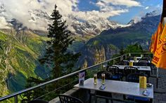 A bar in Murren, Switzerland. Perfect way to enjoy any beverage!