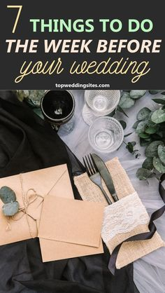It is the week before the wedding, did you forget anything? Here are 7 things you to do(if you haven't already) the week before your wedding day! Wedding Planning Tips, Wedding Tips, Wedding Planner, Wedding Venues, Destination Wedding, Wedding Day, Wedding Hacks, Wedding Themes, Wedding Parties