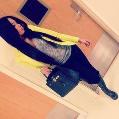 Love the yellow blazer!