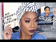 head wraps for natural hair Easy DIY Headwrap Tutorial Using T-Shirts and Leggings Diy Head Scarf, Head Scarf Styles, Diy Hair Wrap Scarf, Diy Fashion Accessories, Hair Accessories For Women, Winter Accessories, Turbans, Headscarves, Natural Hair Styles