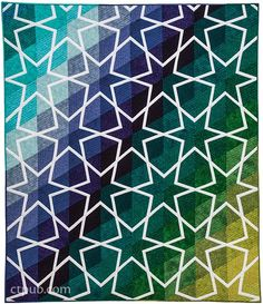 Amazingly Simple Triangle Stars quilt by QuiltinGal Barbara H. Cline.  Book available August, 2015.