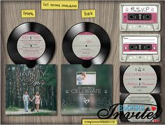 Musik Hochzeit Einladung Vinyl-Rekord-Einladungen von EmpireInvites