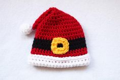 Santa's Favorite Preemie Crochet Hat | So cute and simple to work up!
