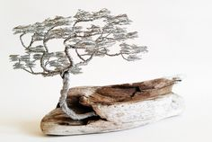 Windswept wire tree sculpture modern metal by BonsaiWireTree