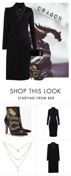 """""""Dragon."""" by vickuz ❤ liked on Polyvore featuring Gianvito Rossi, Undress, Alexander McQueen and Yves Saint Laurent"""