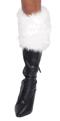 Sexy Faux Fur Christmas Girl Boot Toppers