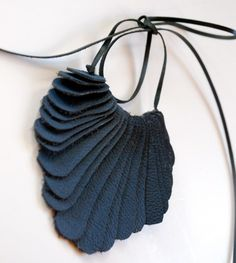 Recycled leather necklace