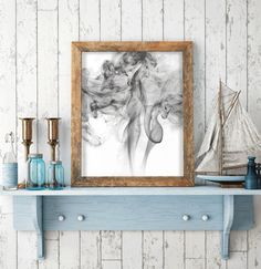 DESCRIPTION: Smoke Wall Art Printable Art scalable to 50x70 cm  WHAT YOU WILL RECEIVE: ► An INSTANT DOWNLOAD: 1 high resolution PDF file (300 dpi,