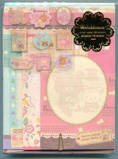 San-X Rilakkuma Relax Bear Letter Set (L0724)