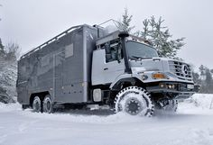 The Mercedes Benz Zetros 2733 RV is popular among wealthy Mongolians who use it for hunting expeditions. WOW! I'd like to use it for the weekend but I don't think it would be practical at all.