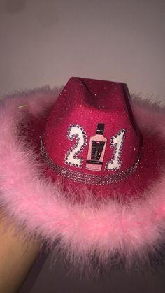 Cowgirl Birthday, Cowgirl Party, Glitter Birthday, Glitter Party, Birthday Party For Teens, 22nd Birthday, Custom Cowboy Hats, 21st Bday Ideas, Diy Hat