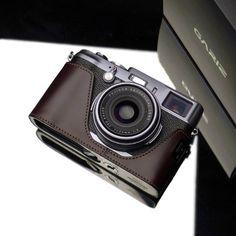 Amazon.com : Gariz Genuine Leather XS-CHX100MB Camera Metal Half Case for Fuji Fujifilm X100, Brown : Camera & Photo