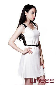 Vestido, Modelo 19476. Precio $280 MXN #Lineas #outfit #moda #tendencias #2014 #ropa #prendas #estilo #primavera #outfit #vestido