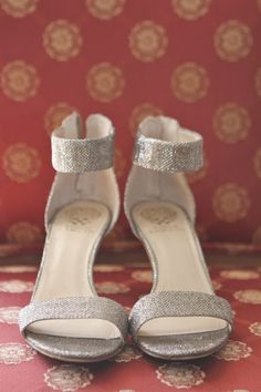 Glitter Inspired Wedding Ideas - Sparkly Wedding Shoes; Wedding by All You Need is Love Events