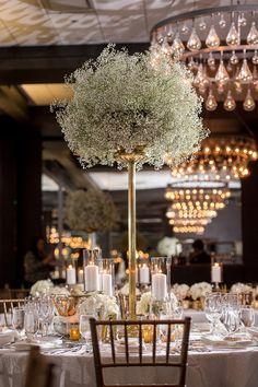 A Clic Elegant Wedding In Toronto Centrepiece Ideascentrepieceswedding Centerpieceswedding Tablebaby S