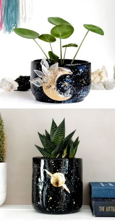 ceramics planters plantpot crystals awesome feature pottery galaxy super etsy shop on so Etsy Shop Feature on So Super Awesome Etsy Shop Feature on So Super Awesome You can find Crystals and more on our website Ceramics Pottery Mugs, Pottery Bowls, Ceramic Pottery, Ceramic Art, Thrown Pottery, Slab Pottery, Pottery Wheel, Ceramic Mugs, Ceramic Bowls