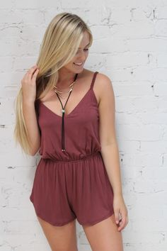 Dresses - Crissy Braided Romper. Rust in Large