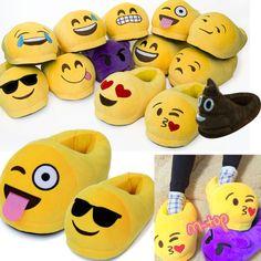 Womens-Mens-Cute-Emoji-Winter-Warm-Soft-Plush-Indoor-Pajama-Home-Slippers-Shoes