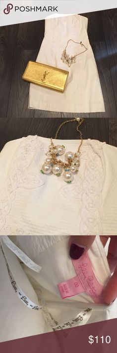 Lilly Pulitzer White Dress Used in great condition. Worn twice. White. Size 00. Great for summer parties and sorority functions. Lilly Pulitzer Dresses Mini