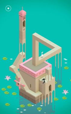 Monument Valley (for Android) Review   PCMag Game Design, Web Design, Graphic Design, Design Art, Isometric Art, Isometric Design, Low Poly, Ustwo Games, Escher Drawings