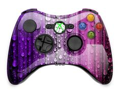 Purple and Pink Raindrop Aluminium Xbox Controller Cover on Etsy, $24.99