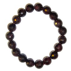 "Garnet Bracelet Red 30 Stretch 11mm Faceted Shiny Cut Crystal Healing Stones Burgundy Beauty (Gift Box) (7.25 Inches). Measures: 11mm beads [x-small: 5""-6"", small: 6""-7"", medium: 7""-8"", large: 8""-9""]. Chakra Balancing: Root. Includes: One bracelet in a Satin Crystals gift box (box colors vary). Garnet is a stone of ""total health"" , for regeneration and stability. It is said to bring positive thoughts and be excellent for manifestation and bringing abundance. Garnet can boost the entire..."
