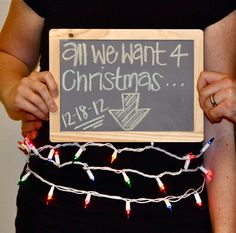 Christmas pregnancy announcement... would be cute for another holiday or birthday.