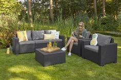 Gartenmöbel Lounge-Gruppe Mombasa 4-tlg. Cappuccino/Sand | garden ...