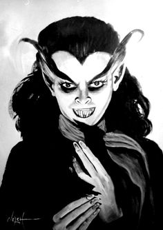 """Blood of Dracula is an American B movie from 1950  that was advertised with the tag line, """"She Will GIVE YOU Nightmares...FOR EVER!""""  In a girl's boarding school, science teacher, Miss Branding, tests her theory that there is power within the human potential that is beyond that of the atom. Using hypnosis and a special amulet, a new and troubled student, Nancy Perkins, becomes the subject of her experiments which result in a series of full-moon murders."""