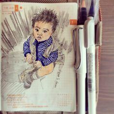 Baby, why ur zipper's down? #ほぼ日手帳 #Hobonichi #SteveJournal2014