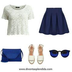 #outfit #pizzo #bianco #blu   Segui  www.diventasplendida.com