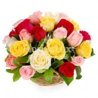 Mix Roses Basket : buy flowers online, buy cake online, send flowers, cakes to India Cake Home Delivery, Rose Delivery, Online Cake Delivery, Online Flower Delivery, Father's Day Flowers, Fast Flowers, Annual Flowers, Buy Cake Online, Valentine Baskets