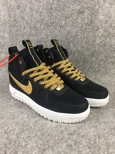 acc7f072ce53 2018 Spring Fashion Nike Lunar Force 1 Duckboot High Black Gold