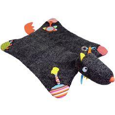 Un tapis d'éveil T'es Fou Louloup par Ebulobo riche en découvertes, ultra-moelleux et très confortable pour l'enfant.