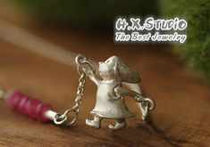 Handmade 3D Solid Silver 'Little Girl' Pendant, Anniversary, Birthday, Christmas, Mother's Day Gift, Wholesale Available