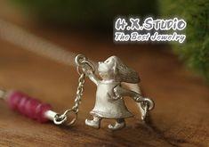 Handmade 3D Solid Silver 'Little Girl' Pendant, Anniversary, Birthday, Christmas, Mother's Day Gift