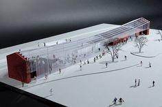 上州富岡駅舎設計競技佳作|projects|鹿内健建築事務所 1級建築士事務所