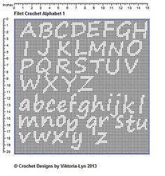 Ravelry: FREE-Filet Crochet PATTERN Alphabet 1 pattern by Viktoria-Lyn